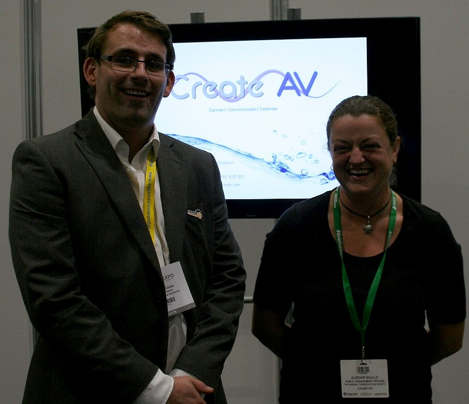 Emma Cunningham with Chris Close at the Excel in London