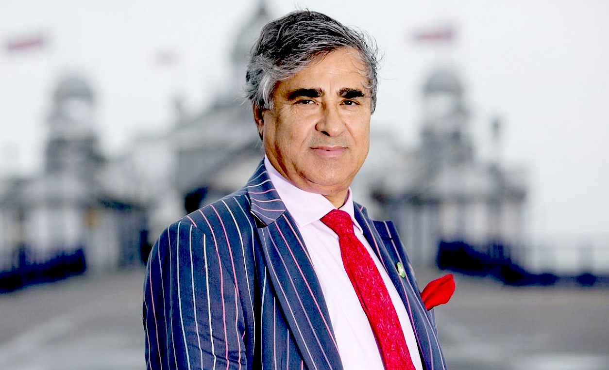 Abid Gulzar, the owner of Eastbourne Pier in 2015