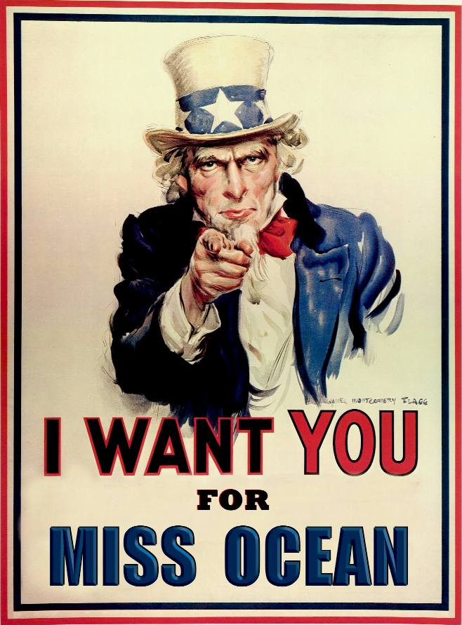 Uncle Sam wants you to enter the Miss Ocean water sports pageant