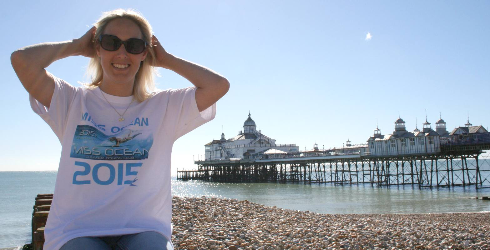 Hayley Stebbings at Eastbourne pier in September 2015