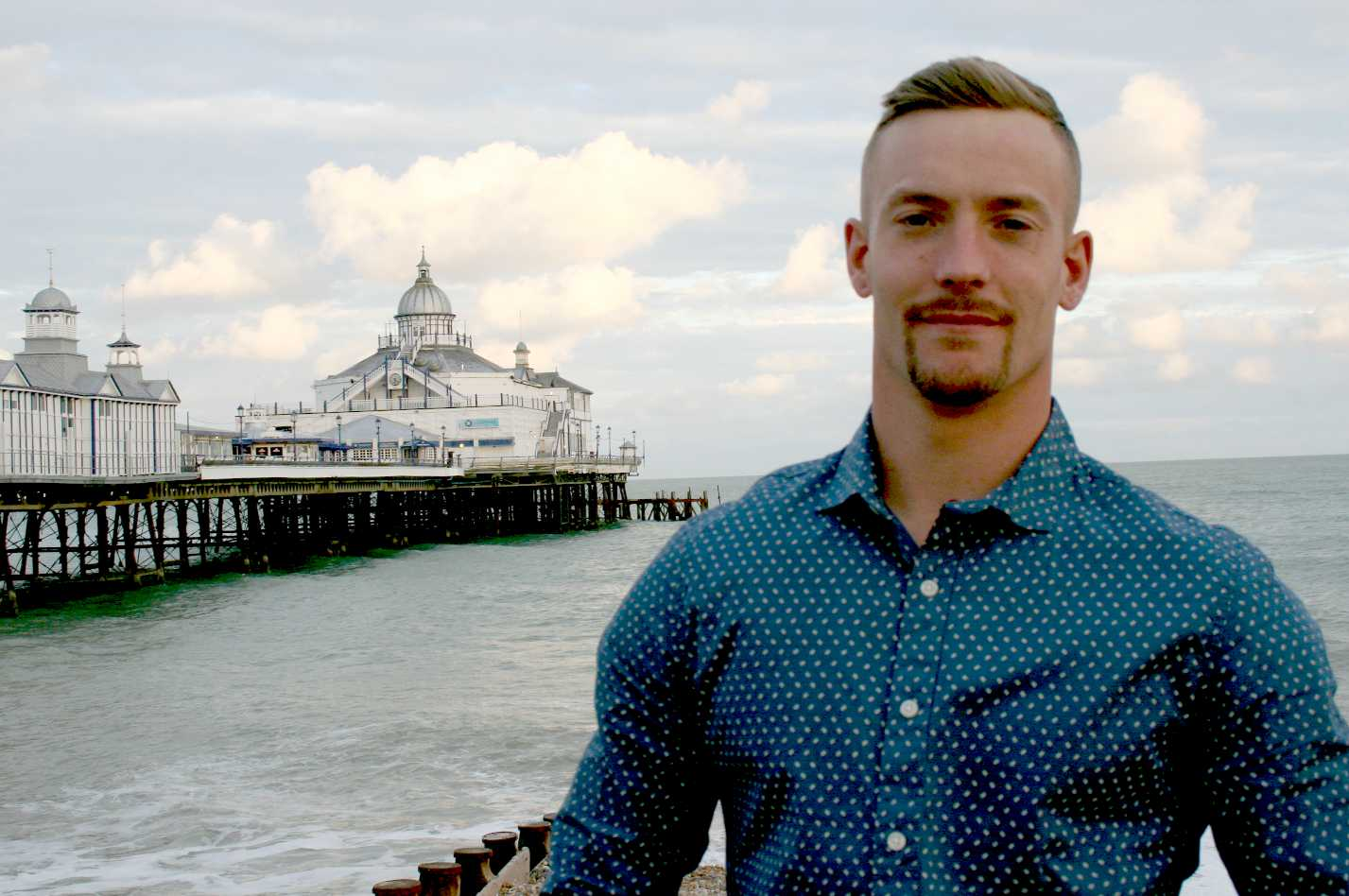 Terry Valeriano checking out Eastbourne pier in September of 2015