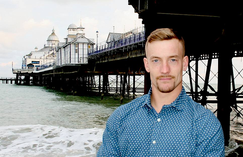 Terry at Eastbourne pier in September 2015